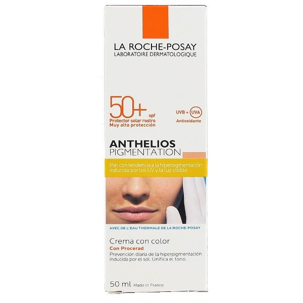 la roche posay anthelios pigmentation crema con color spf50 50 ml