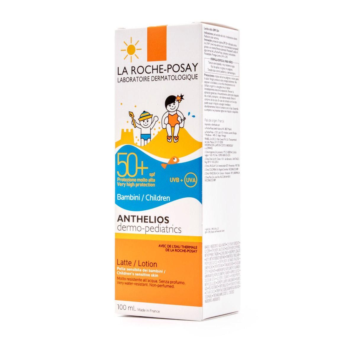 LA ROCHE-POSAY ANTHELIOS DERMO-PEDIATRICS SPF 50+ LECHE 100ML