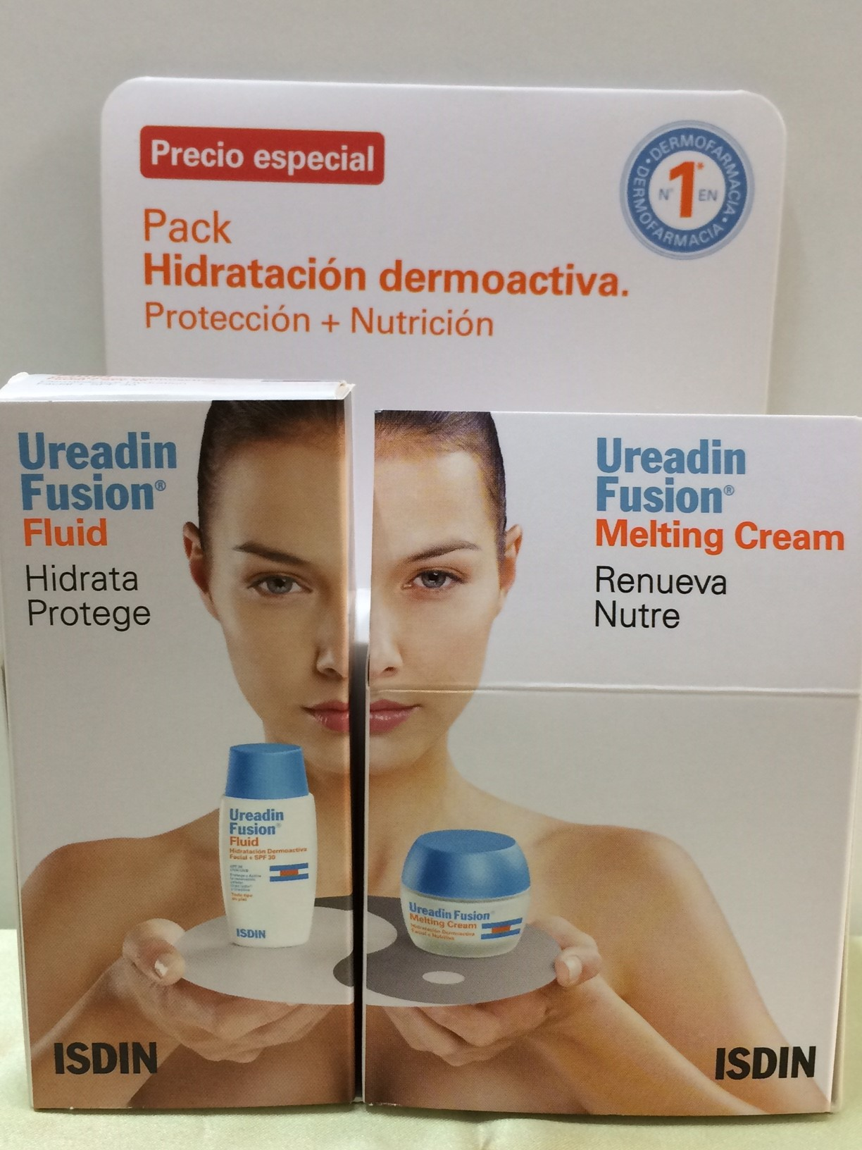 UREADIN PACK HIDRATACIÓN DERMOACTIVA (FUSION FLUID 50ML + MELTING CREAM 50ML)