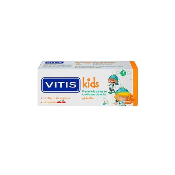 VITIS KIDS +2 AÑOS GEL DENTÍFRICO SABOR CEREZA 50ML