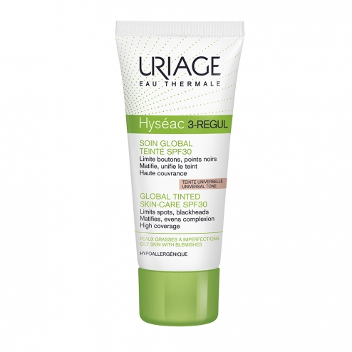 uriage hyseac 3 regulateur soin global teinte spf30 peaux grasses a imperfections 40ml