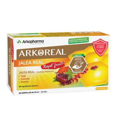 ARKOPHARMA ARKOREAL JALEA REAL ROYAL'FRUITS 20 AMPOLLAS X 15ML